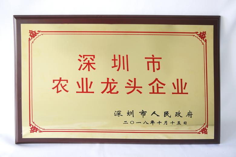 2018年深圳市农业龙头企业