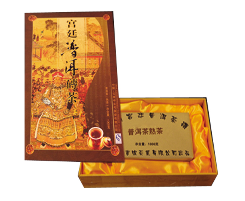 中吉号古树茶 - 宫廷普洱熟砖2008